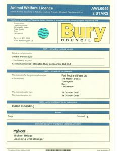 Boarding Licence